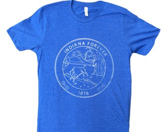Indiana Forever Bicentennial Tee (Heather Blue)