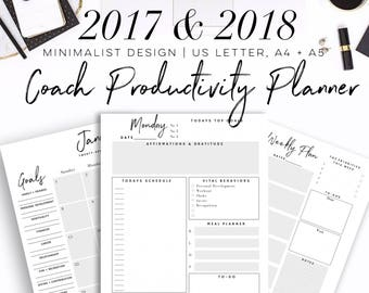 30% OFF! 2017 & 2018 Beachbody Coach Business Planner Printable 2017 US Letter, A4 or A5 Paper Size