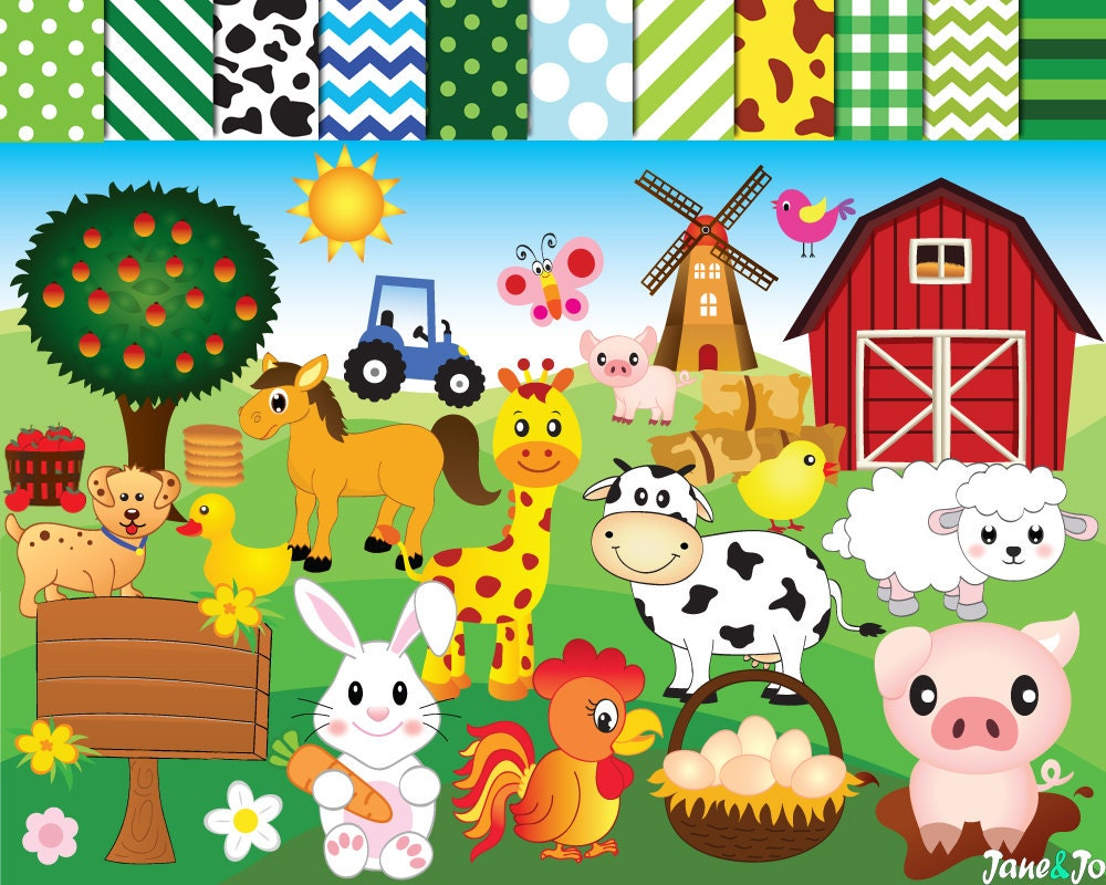 50% OFF SALE Farm animalsFarm animal ClipartFarm ClipartClip Art Pictures Of Farm Animals