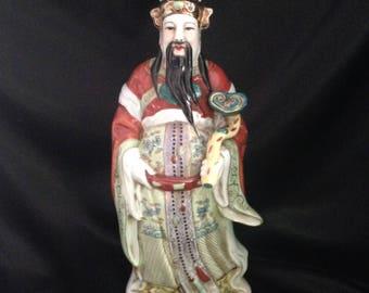 Chinese Wise Man Figurine/Shou Lao Wise Man Figure Statue/Porcelain Chinese Wise Man