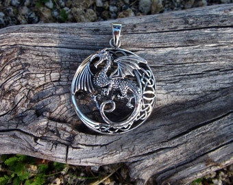 Sterling Silver Dragon Pendant - #302
