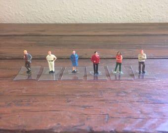 Miniature People Standing / Micro Mini Figure / Hand Painted / HO Scale Models / Life Like Trains / Craft Supply / Terrarium Supply