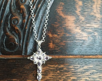 Sterling Silver Amythyst Pendant Necklace
