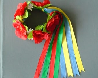Ukrainian Wreath - Ukrainian folk Head Attire for Women, Girl (Vinok)