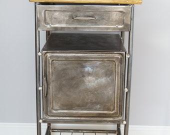 Industrial Metal Bedside Cabinet 1960'