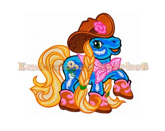 cute cowboy pony  Embroidery Design. 1 size. Instant Download