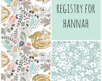 custom baby registry for hannah