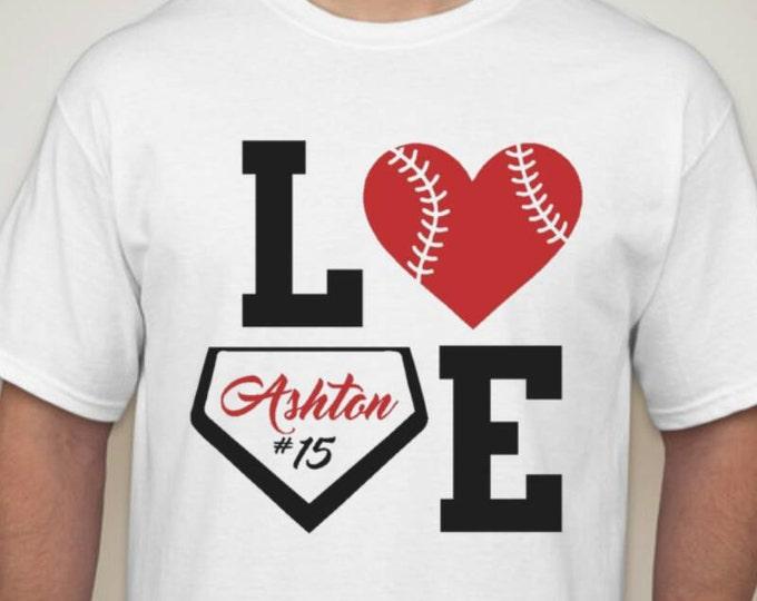 baseball love custom shirt