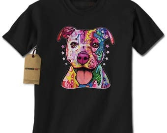 American Pitbull Graffiti Mens T-shirt