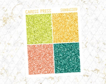 Sunkissed Glitter Headers   28 Stickers