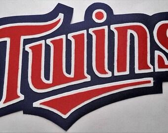 Huge Minnesota Twins Iron On Patch