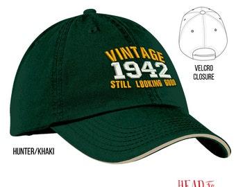 75th Birthday, 1942 Birthday, 75th Birthday Gift, Unisex Embroidered Cap, 75th Birthday Idea, 75 Birthday Present, 75 Birthday Gift!