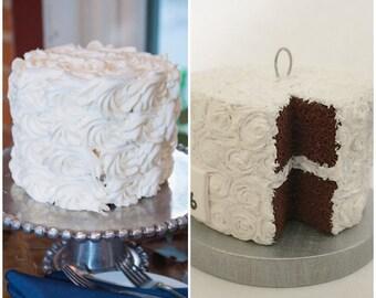 Wedding Cake Replica, 1st Anniversary Gift, Wedding Cake Ornament, First Christmas Ornament Married, Wedding Cake Replica Ornament