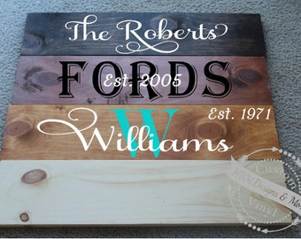 Last Name Wood Sign | Custom Family Sign | Personalized Wood Sign | Home Decor | Housewarming Gift | Wedding Gift | Valentines Gift