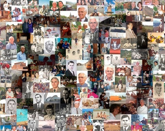 Customized Photo Mosaic - Digital Printable File - Anniversary Gift - Various Sizes - Personalized Gift