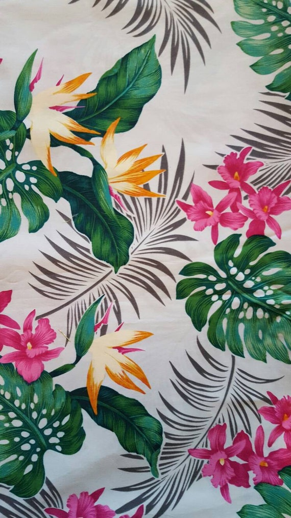 tissu hawa en tissu tropical orchid es oiseau de paradis. Black Bedroom Furniture Sets. Home Design Ideas
