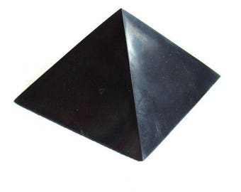 Shungite pyramid polished  40 mm / 1.57 in Powerful Healing