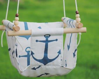 Indoor swing, Toddler swing, baby swing, outdoor swing, hammock swing, fabric swing, baby shower gift, baby gift, outdoor furniture