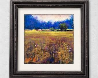 "Original Pastel Painting ""End of Summer"""