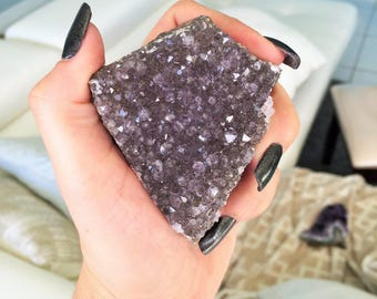 Amethyst Crystal Cluster Geode  infused w/ Reiki Perfect Gift for Mom
