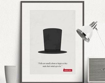 Poster Quote - Abraham Lincoln - Art Print, Minimalist Poster, Quote Poster Print, Illustration, Inspirational Quote, Wall Art Print - SG007