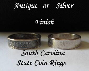 "South Carolina State Quarter Handmade ""Coin Ring "" **FREE SHIPPING**"