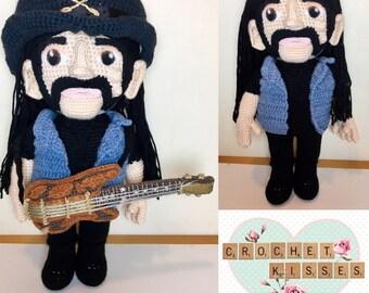 Crochet Lemmy from Motörhead