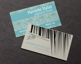 Hair stylist business cards – Etsy