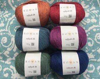 Rowan SOFTYAK DK -New Stock- 9.99 + 1.25ea to Ship Cotton Yak Yarn Pampas 235-Lea 236-Prairie 233 Meadow 237-Lawn 241-Terrain 243 MSRP 12.95