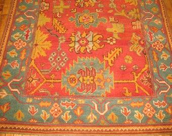Antique Turkish Oushak Rug 5x6'6''