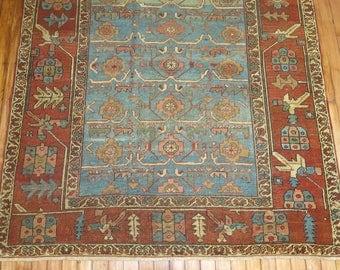 Antique Persian Heriz Rug Size 4'6''x5'9''
