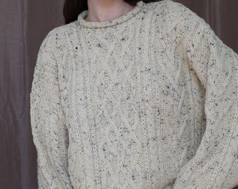 Cream Fishermans sweater