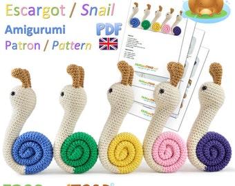 Snail - Amigurumi Crochet PDF Pattern - British Terminology