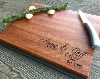 Custom cutting board, Personalized cutting board, Wedding gift, gifts for the couple, Engraved Cutting board, Wood Cutting Board