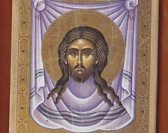 The Holy Mandylion of Christ. Christian orthodox icon. FREE SHIPPING.