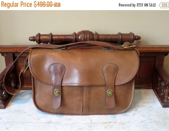 Football Days Sale Coach Musette Putty (Tabac) Leather Bag Made In New York City At The Factory - Fancied By Models, Dancers- VGC