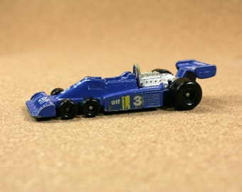 Tomica Tyrell P-34 ELF Ford F1 Race Car (No. F-32) - 1970s Blue Diecast Race Car  - Vintage Collectible Miniature Toys