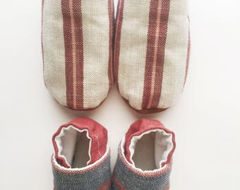 Princeton Stripe Soft Sole Baby Shoe Moccasin RTS