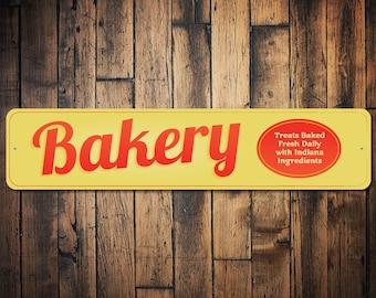 Bakery Sign, Custom Bakery Decor, Bakery Gift, Baker Gift, Baker Kitchen Sign, Baking Lover Gift, Baker Sign - Quality Aluminum ENS100016