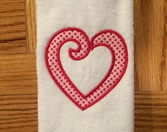 Valentine's Day Fingertip Towel