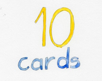 Any ten cards - pack of ten cards - illustrated - value pack