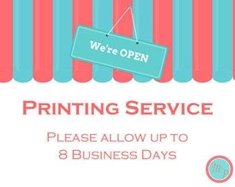 PRINTING SERVICE - add on service