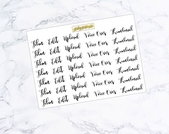 Youtube Font Stickers
