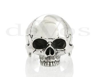 Skull ring - Half Skull Ring - Statement Ring - Crâne - tête de mort