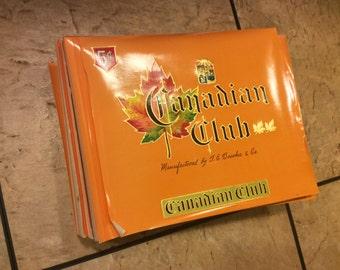 Massive Lot Canadian Club Cigar Labels