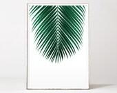 Palm leaf print, palm print, botanical print, palm tree, leaf print, botanical art, tropical art, affiche palmier, affiche tropical, palm