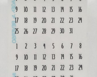 A5 Planner Date Cover Stickers : F39
