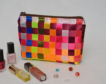 gift|for|her Colorful Cosmetic Bag Womens Gift Ideas Makeup Bag Rainbow Make Up Bag Cosmetic Case Makeup Organizer Makeup case Gift for Wife