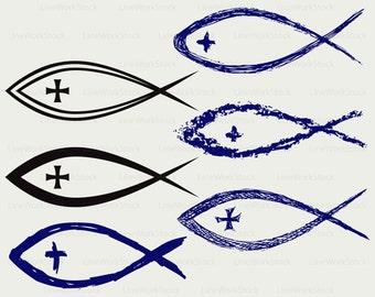 Christian fish svg,clipart,christian fish svg,christian silhouette,fish cricut cut files,fish clip art,fish digital download,designs,svg,dxf