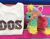 Fiesta Birthday DOS Shirt - Sweet Texas Treasures - uno first birthday dos, serape fiesta birthday tee, UNO birthday tee, fiesta theme